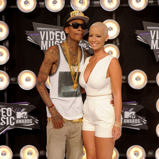 Rapper Wiz Khalifa (L) and model Amber Rose