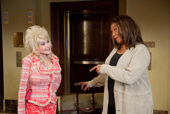 "(L-r) DOLLY PARTON as G.G. Sparrow and QUEEN LATIFAH as Vi Rose Hill in Alcon Entertainment's ""JOYFUL NOISE,"" a Warner Bros. Pictures release."