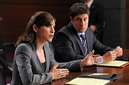 """Bitcoin for Dummies""--Alicia (Julianna Margulies) defends a lawyer (guest star Jason Biggs) who hires the firm after the government arrests him for not revealing the name of an anonymous client, on THE GOOD WIFE, Sunday, Jan. 15 (9:00-10:00 PM ET/PT) on CBS."