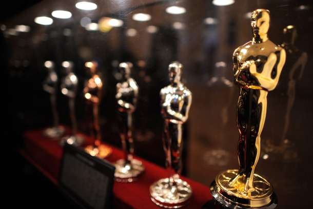 NEW YORK, NY - FEBRUARY 27:  The Oscar Statue production display at the Meet the Oscar Exhibit at Grand Central Terminal on February 27, 2011 in New York City.  (Photo by Jemal Countess/Getty Images)