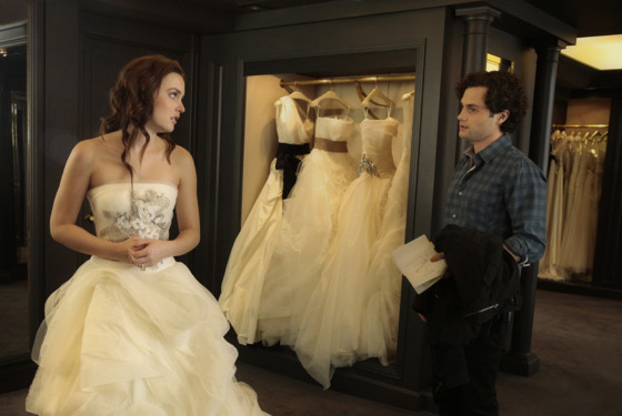"""The End Of The Affair"" GOSSIP GIRL Pictured (L-R)  Leighton Meester as Blair Waldorf and Penn Badgley as Dan Humphrey PHOTO CREDIT:  GIOVANNI RUFINO/THE CW © 2011 THE CW Network, LLC.  All Rights Reserved."