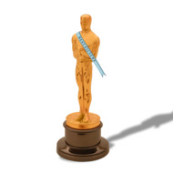"""The Oscar statuette is the copyrighted property of the Academy of Motion Picture Arts and Sciences, and the statuette and the phrases """"Academy Award(s)"""" and """"Oscar"""" are registered trademarks under the laws of the United States and other countries. All published representations of the Award of Merit statuette, including photographs, drawings and other likenesses, must include the legend ©A.M.P.A.S.® to provide notice of copyright, trademark and service mark registration. Permission is hereby granted for use of the representation of the statuette in newspapers, periodicals and on television only in legitimate news articles or feature stories which refer to the annual Academy Awards as an event, or in stories and articles which refer to the Academy as an organization or to specific achievements for which the Academy Award has been given. Its use and any other use is subject to the """"Legal Regulations for using intellectual properties of the Academy of Motion Picture Arts and Sciences"""" published by the Academy. A copy of the """"Legal Regulations"""" may be obtained from: Legal Rights Coordinator, Academy of Motion Picture Arts and Sciences, 8949 Wilshire Boulevard, Beverly Hills, California 90211; (310) 247-3000"""