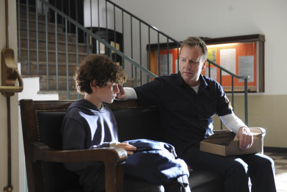 TOUCH:  Martin (Kiefer Sutherland, R) brings Jake (David Mazouz, L) to the state board and care facility in TOUCH which debuts with a special preview Wednesday, Jan. 25 (9:00-10:07 PM ET/PT) and then makes its series premiere Monday, March 19 (9:00-10:00 PM ET/PT) on FOX.  &amp;#xa9;2012 Fox Broadcasting Co.  Cr:  Richard Foreman/FOX