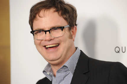 LOS ANGELES, CA - MARCH 19:  Actor Rainn Wilson arrives at the premiere of IFC Midnight's 'Super' at the Egyptian Theatre on March 21, 2011 in Hollywood, California.  (Photo by Jason Merritt/Getty Images) *** Local Caption *** Rainn Wilson