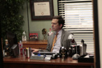 "THE OFFICE -- ""Jury Duty"" Episode 813 -- Pictured: Ed Helms as Andy Bernard -- Photo by: Chris Haston/NBC"
