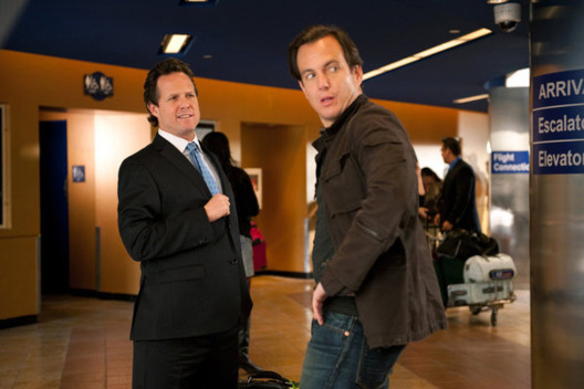 "UP ALL NIGHT -- ""Preschool Audition"" Episode 114 -- Pictured: (l-r) Dean Winters as Casey Brinkley, Will Arnett as Chris."