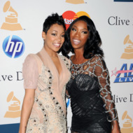 BEVERLY HILLS, CA - FEBRUARY 12:  Singers Monica (L) and Brandy arrives at the 2011 Pre-GRAMMY Gala and Salute To Industry Icons Honoring David Geffen at Beverly Hilton on February 12, 2011 in Beverly Hills, California.  (Photo by Jason Merritt/Getty Images) *** Local Caption *** Monica;Brandy