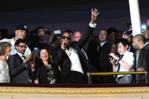 Jay-Z performs at Carnegie Hall to Benefit the United Way of New York City and the Shawn Carter Foundation on February 7, 2012 in New York City.