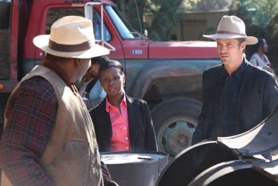 JUSTIFIED: Episode 4: The Devil You Know (Airs February 7, 10:00 pm e/p). Pictured L-R: Mykelti Williamson, Erica Tazel and Timothy Olyph