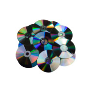 Computer technology data cd dvd disk heap isolated