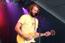 Musician Justin Vernon of Bon Iver performs on stage during Bonnaroo 2009