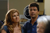 "FRIDAY NIGHT LIGHTS -- ""I Knew You When"" Episode 301 -- Pictured: (l-r) Connie Britton as Tami Taylor, Kyle Chandler as Coach Taylor"