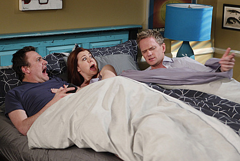 """No Pressure""-- Barney (Neil Patrick Harris) finds something private of Marshall (Jason Segel) and Lily\'s (Alyson Hannigan), on HOW I MET YOUR MOTHER, Monday, Feb. 20 (8:00-8:30 PM, ET/PT) on the CBS Television Network. Photo: Monty Brin"