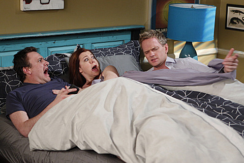 """No Pressure""-- Barney (Neil Patrick Harris) finds something private of Marshall (Jason Segel) and Lily\'s (Alyson Hannigan), on HOW I MET YOUR MOTHER, Monday, Feb. 20 (8:00-8:30 PM, ET/PT) on the CBS Television Network."