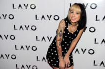 LAS VEGAS, NV - JANUARY 01:  Rapper Kreayshawn arrives for a post NYE party at Lavo on January 1, 2012 in Las Vegas, Nevada.  (Photo by Steven Lawton/FilmMagic)