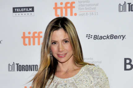 "TORONTO, ON - SEPTEMBER 15:  Actress Mira Sorvino arrives at ""Union Square"" Premiere during the 2011 Toronto International Film Festival held at the Ryerson Theatre on September 15, 2011 in Toronto, Canada.  (Photo by Sonia Recchia/Getty Images)"