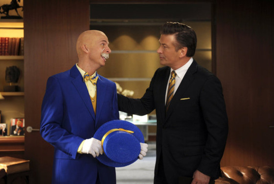 "30 ROCK -- ""Leap Day"" Episode 609 -- Pictured: (l-r) Jack McBrayer as Kenneth Parcell, Alec Baldwin as Jack Donaghy."
