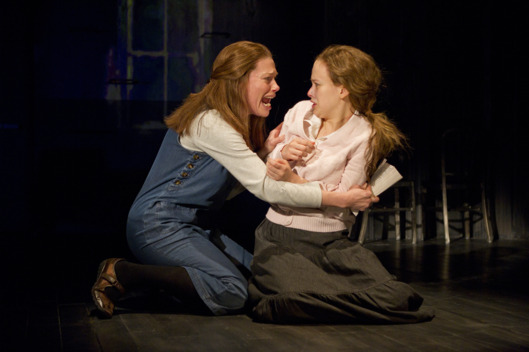 "Marin Mazzie and Molly Ranson in a scene from MCC Theater's ""Carrie"""