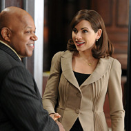 """Blue Ribbon Panel"" --Alicia (Julianna Margulies) meets Pastor Yarrow (Charles Dutton) when she's assigned to be with him on a blue ribbon panel tasked with investigating a police shooting, on THE GOOD WIFE, Sunday, March 25 (9:00-10:00 PM ET/PT) on the CBS Television Network. Photo: David M. Russell/CBS ©2012 CBS Broadcasting, Inc. All Rights Reserved"