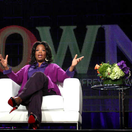 Oprah Winfrey speaks during the OWN: Oprah Winfrey Network portion of the 2011 Winter TCA press tour held at the Langham Hotel on January 6, 2011 in Pasadena, California.