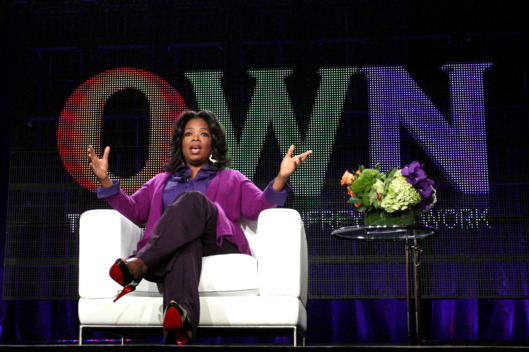 Oprah Winfrey speaks during the OWN: Oprah Winfrey Network portion of the 2011 Winter TCA press tour