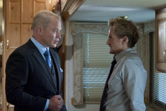 JUSTIFIED: Episode 11: Measures (Airs March 27, 10:00 pm e/p). L-R: Neal McDonough and Jere Burns. CR: Prashant Gupta / FX.