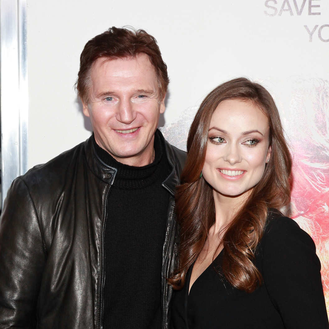 "NEW YORK - NOVEMBER 09:  Actors Liam Neeson and Olivia Wilde attend the premiere of ""The Next Three Days"" at the Ziegfeld Theatre on November 9, 2010 in New York City.  (Photo by Charles Eshelman/FilmMagic) *** Local Caption *** Liam Neeson;Olivia Wilde"