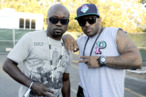 MOUNTAIN VIEW, CA - AUGUST 27: Havoc (L) and Prodigy of Mobb Deep pose at Rock the Bells 2011 at Shoreline Amphitheatre on August 27, 2011 in Mountain View, California. (Photo by Tim Mosenfelder/Getty Images)
