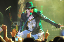 Singer Axl Rose of Guns N' Roses performs at the Hollywood Palladium