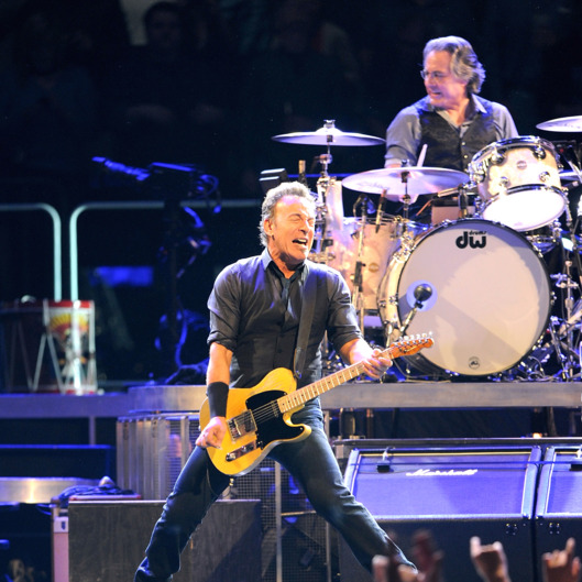 Max Weinberg and Bruce Springsteen perform at Madison Square Garden