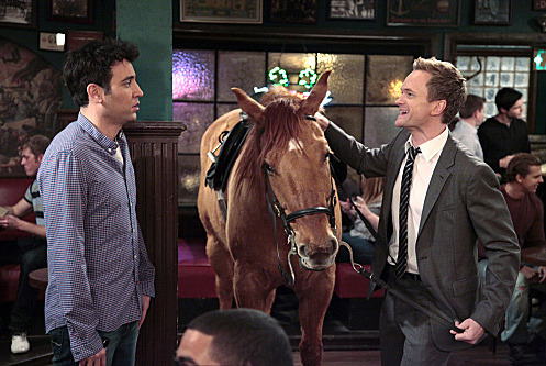 """Now We\'re Even"" -- Just as Ted (Josh Radnor) starts to settle into his new apartment alone, Barney (Neil Patrick Harris) tries to entice him into going out every single night on HOW I MET YOUR MOTHER, Monday, April. 16 (8:00-8:30 PM, ET/PT) on the CBS Television Network.   Photo: Richard Cartwright/CBS ©2012 CBS Broadcasting Inc. All Rights Reserved."