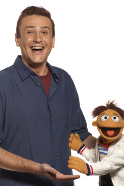 """THE MUPPETS""  (L-R) Jason Segel, Walter  Ph: Andrew Macpherson  ©Disney Enterprises, Inc.  All Rights Reserved."