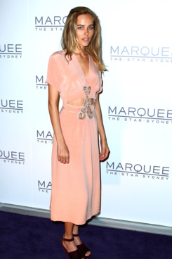 Isabel Lucas arrives for the opening of Marquee at The Star