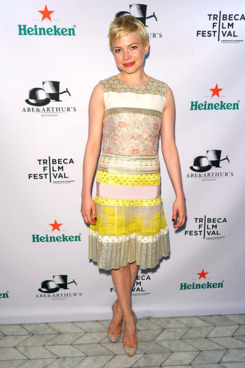 "Actress Michelle Williams attends Tribeca Film Festival 2012 After-Party For ""Take This Waltz"""