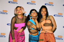 "Tionne ""T-Boz"" Watkins, Lisa ""Left Eye"" Lopes and Rozonda ""Chilli"" Thomas of TLC (Photo by Jeff Kravitz/FilmMagic)"