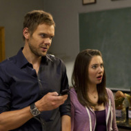 "COMMUNITY -- ""Basic Lupine Urology"" Episode 317 -- Pictured: (l-r) Joel McHale as Jeff, Allison Brie as Annie -- Photo by: Justin Lubin/NBC"