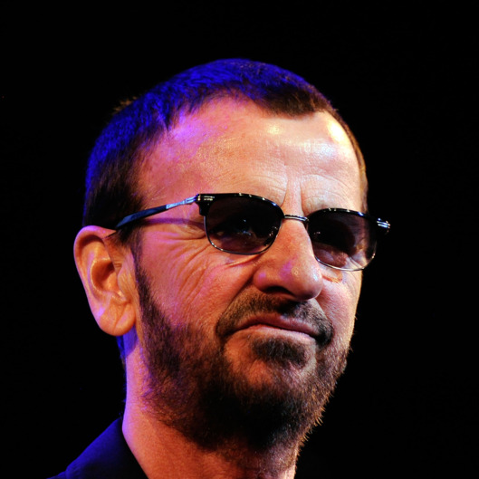 "WEST HOLLYWOOD, CA - JANUARY 30:  Musican Ringo Starr on stage at ""SiriusXM's Town Hall With Ringo Starr"" And Host Russell Brand and Moderator Don Was Live On SiriusXM's The Spectrum Channel performs at Troubadour on January 30, 2012 in West Hollywood, California.  (Photo by Frazer Harrison/Getty Images)"
