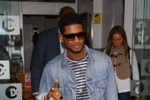 Usher seen at BBC Radio One on March 22, 2012 in London, England.