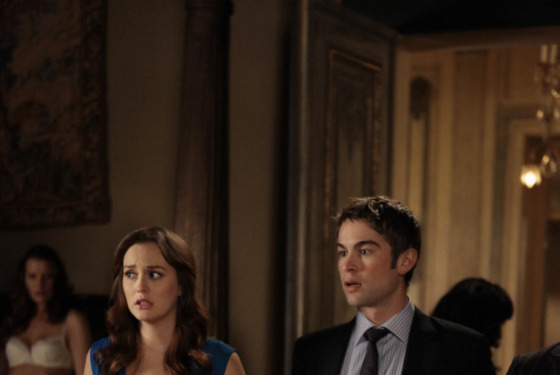 "Gossip Girl ""Raiders Of The Lost Art"" Pictured (l-r) Leighton Meester as Blair Waldorf and Chace Crawford as NatePHOTO CREDIT: GIOVANNI RUFINO / THE CW © 2011 THE CW NETWORK"