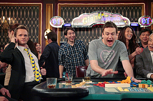 """Good Crazy"" -- Barney (Neil Patrick Harris) takes Marshall (Jason Segel) on a roadtrip to unwind before his baby is born, on HOW I MET YOUR MOTHER, Monday, April 30 ."