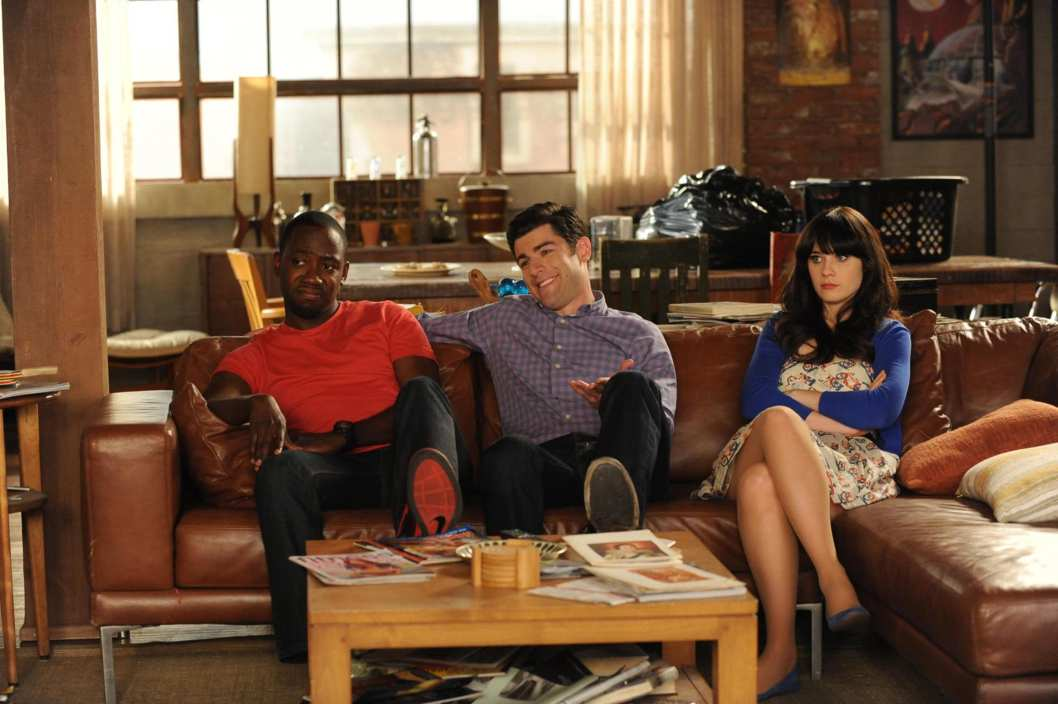 "NEW GIRL:  Winston (Lamorne Morris, L), Schmidt (Max Greenfield, C) and Jess (Zooey Deschanel, R) are faced with a tough decision in the season finale ""See Ya"" episode of NEW GIRL airing Tuesday, May 8 (9:00-9:31 PM ET/PT) on FOX."