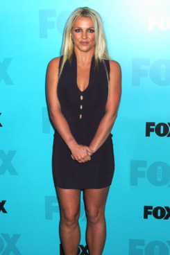 Britney Spears arrives on the black 'red carpet' for the FOX 2012 Programming Presentation Upfront