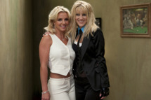 GLEE: Britney Spears (L) and Heather Morris (R) on the set of GLEE