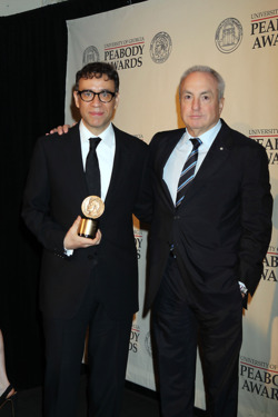71st Annual Peabody Awards at The Waldorf Astoria in NYC Hosted by Sir Patrick Stewart <P> Pictured: Fred Armison, Lorne Michaels <B>Ref: SPL394998  210512  </B><BR/> Picture by: Jennifer Mitchell / Splash News<BR/> </P><P> <B>Splash News and Pictures</B><BR/> Los Angeles:310-821-2666<BR/> New York:212-619-2666<BR/> London:870-934-2666<BR/> photodesk@splashnews.com<BR/> </P>