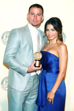 NEW YORK, NY - MAY 21:  (L-R) Channing Tatum and Jenna Dewan-Tatum attend the 71st Annual Peabody Awards on May 21, 2012 in New York, United States.  (Photo by Astrid Stawiarz/Getty Images)