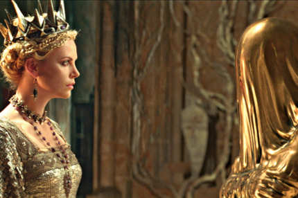 "The Queen (CHARLIZE THERON) consults with the Mirror Man in the epic action-adventure ""Snow White and the Huntsman"", the breathtaking new vision of the legendary tale from the producer of ""Alice in Wonderland""."
