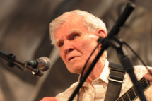 NEW ORLEANS - MAY 01:  Recording Artist Doc Watson  performs at the 2009 New Orleans Jazz & Heritage Festival at the Fair Grounds Race Course on May 1, 2009 in New Orleans.  (Photo by Rick Diamond/Getty Images) *** Local Caption *** Doc Watson