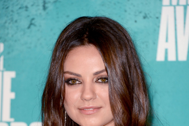 UNIVERSAL CITY, CA - JUNE 03:  Actress Mila Kunis poses in the press room during the 2012 MTV Movie Awards held at Gibson Amphitheatre on June 3, 2012 in Universal City, California.  (Photo by Jason Merritt/Getty Images)
