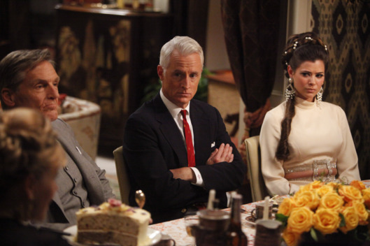 Roger Sterling (John Slattery) and Jane Sterling (Peyton List)