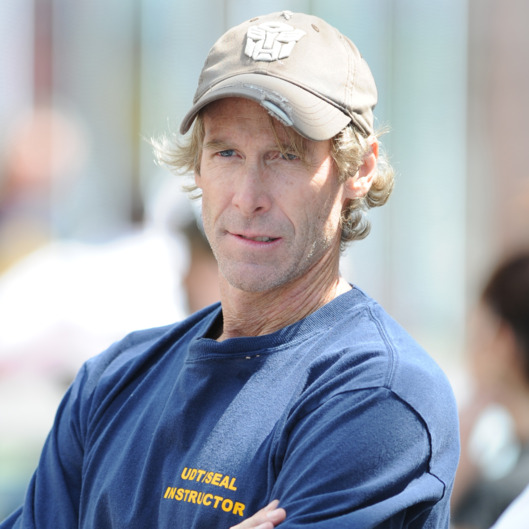 "Michael Bay sighting on the set of ""Pain And Gain"" on April 14, 2012 in Miami, Florida."